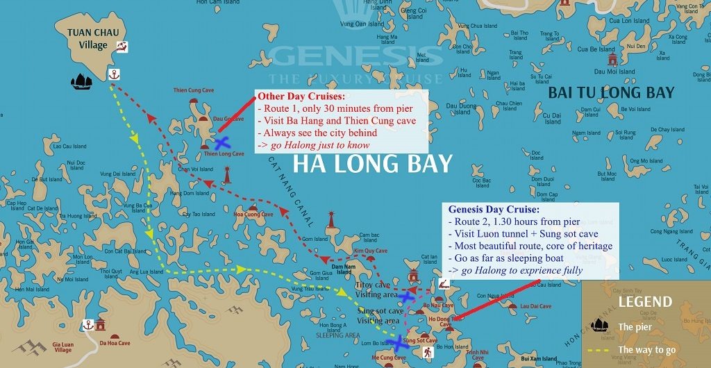 New Halong Bay Cruise Routes And Fees New Cruise Itinerary