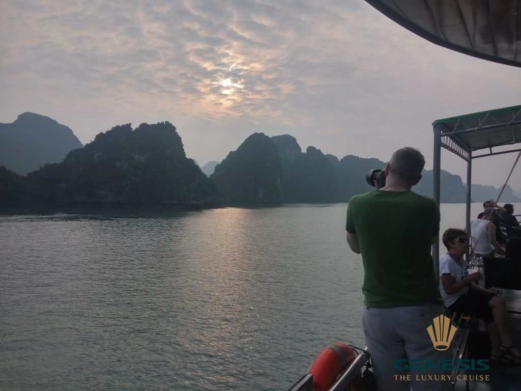 best sunset Halong bay