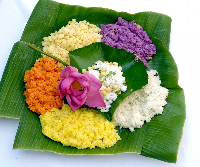 Sticky rice with seven colors